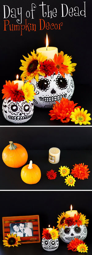 Day of the Dead Skull With Candle